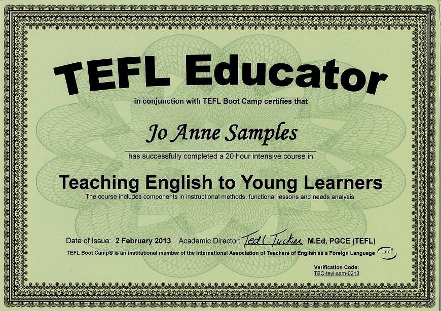 Teaching English To Young Learners Certification Course